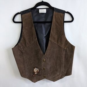 🔥Looney Tunes Classic Wear Leather Suede Vest M/L